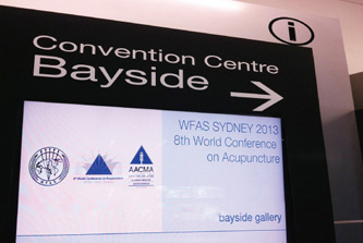 Participation in the 8th World Conference on Acupuncture, WFAS Sydney 2013